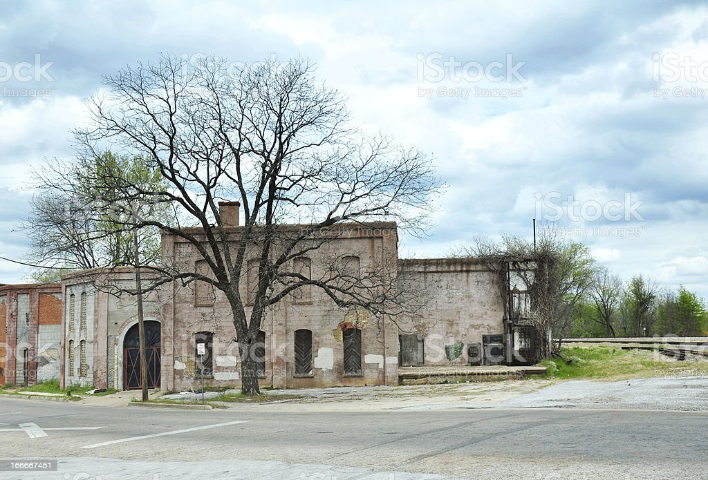 Abandoned Building in Tyler Texas royalty-free stock photo