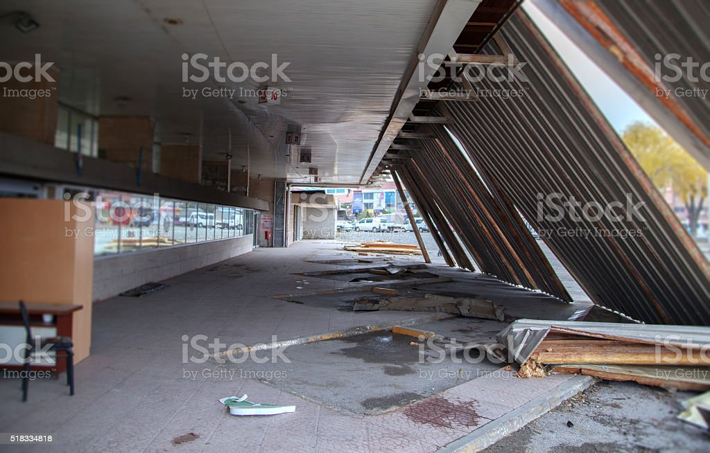 Abandoned  building ruins stock photo