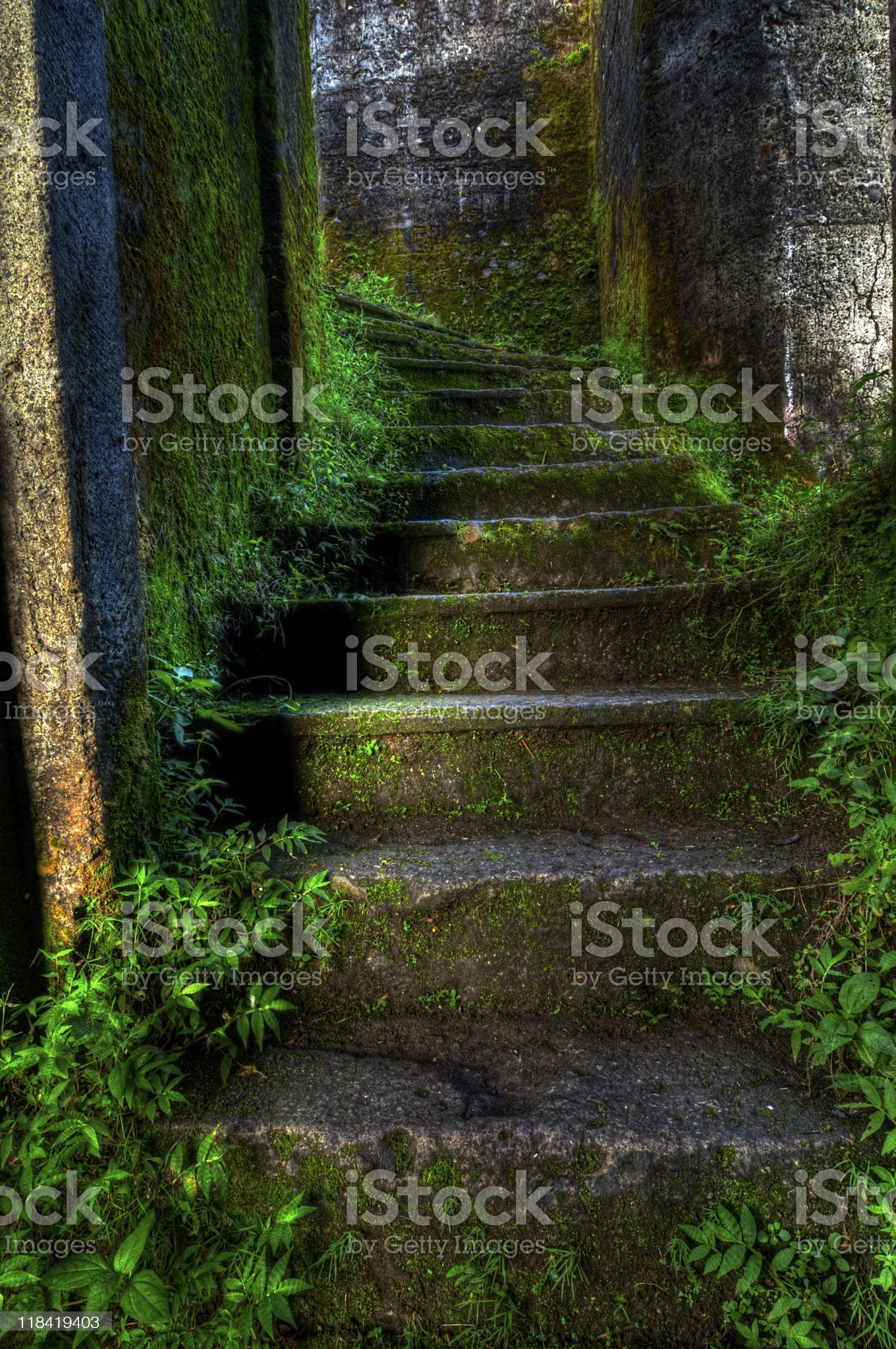 Abandoned building stairs royalty-free stock photo