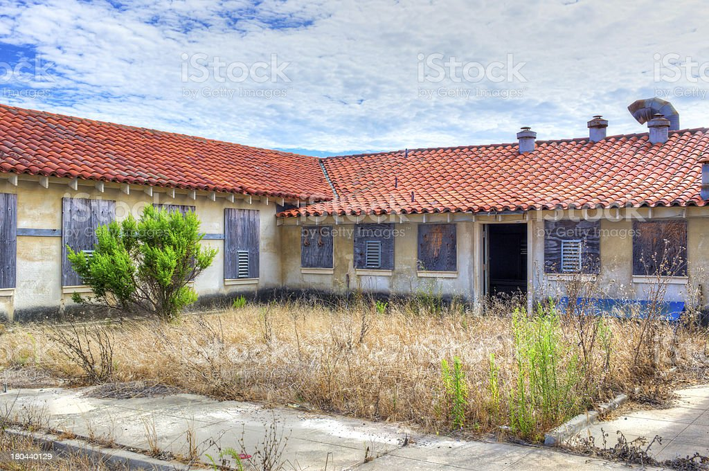 Abandoned Buildings at Historic Fort Ord royalty-free stock photo
