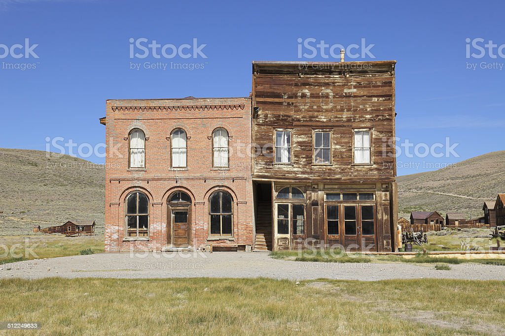 Abandoned Buildings - Bodie stock photo