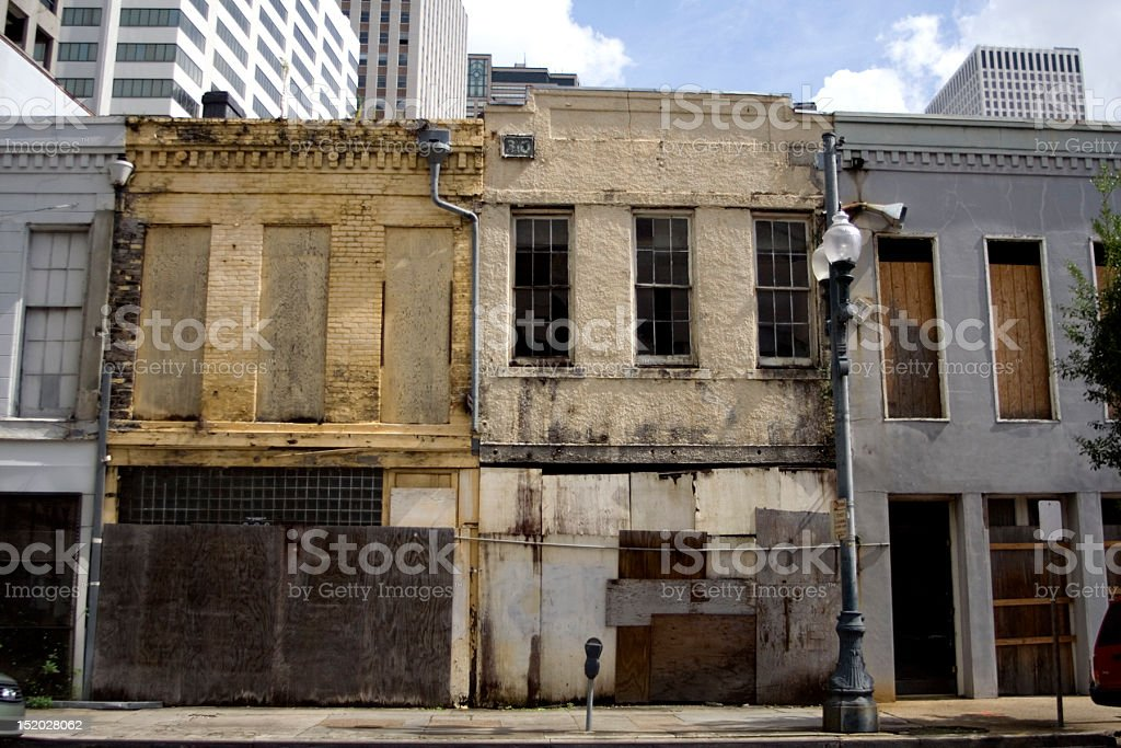 Abandoned Buildings: New Orleans After Katrina stock photo