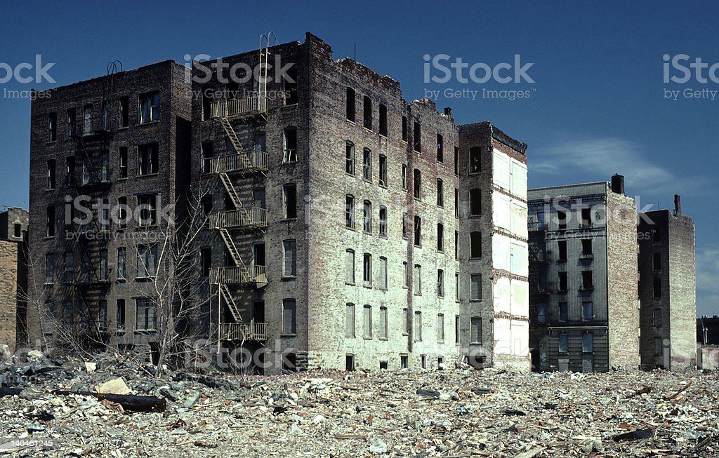 abandoned buildings stock photo