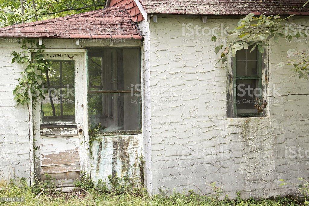 Abandoned Bungalow House stock photo