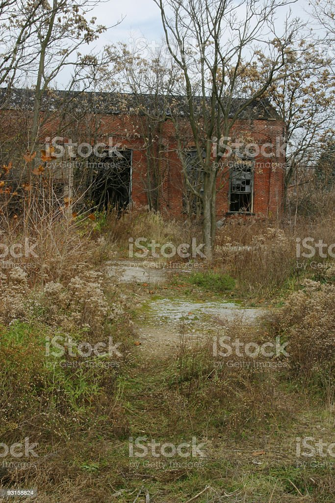 Abandoned Business Building 2 stock photo