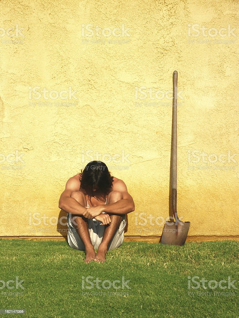 Abandoned by Shovel royalty-free stock photo