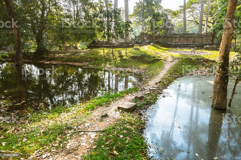 Abandoned Cambodian Ruins stock photo