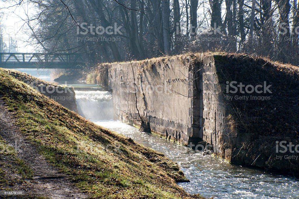 Abandoned canal lock royalty-free stock photo