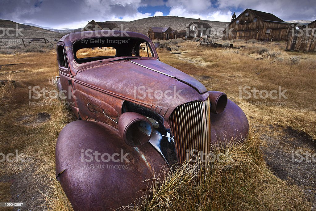 Abandoned Car - Bodie Ghost Town, California stock photo