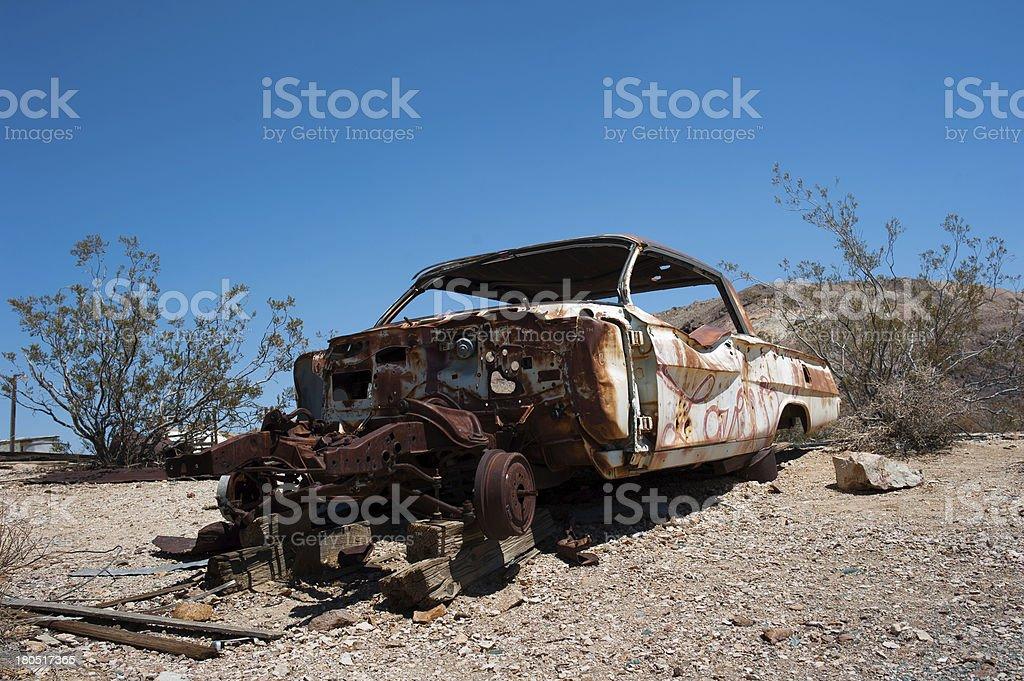 Abandoned car in Arizona desert. royalty-free stock photo