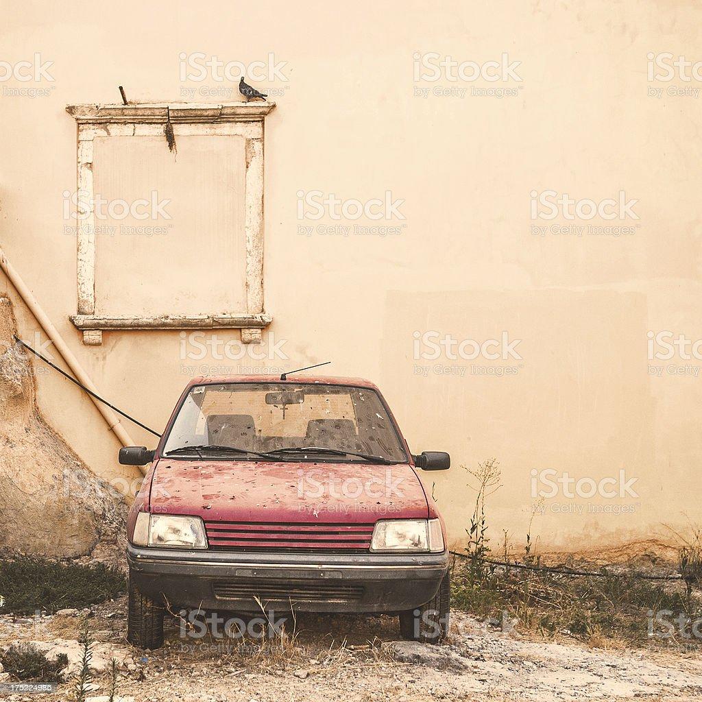 Abandoned car. royalty-free stock photo