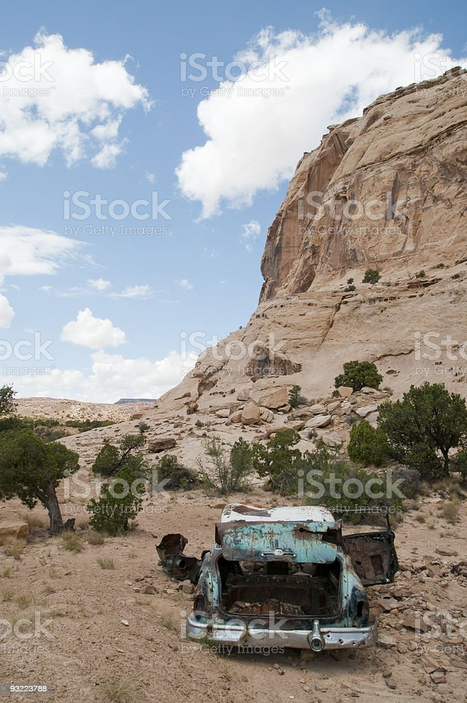 Abandoned Car stock photo