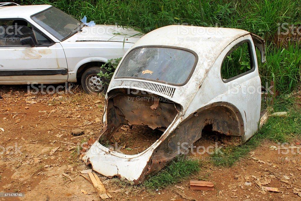 Abandoned cars stock photo