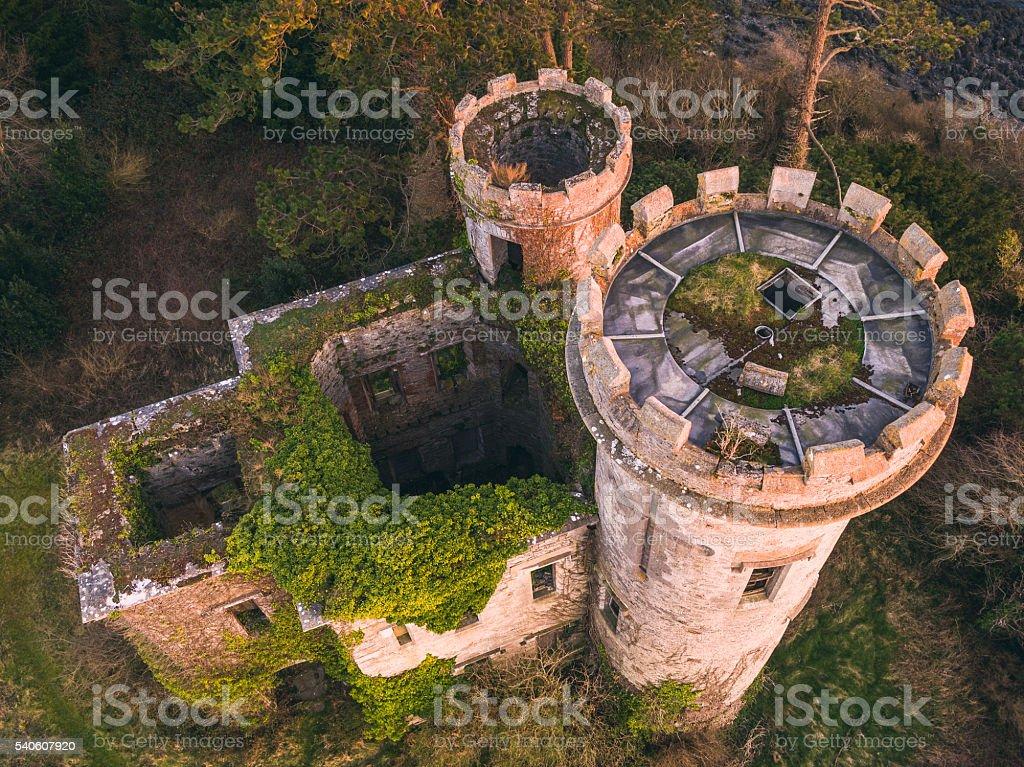 Abandoned castle stock photo