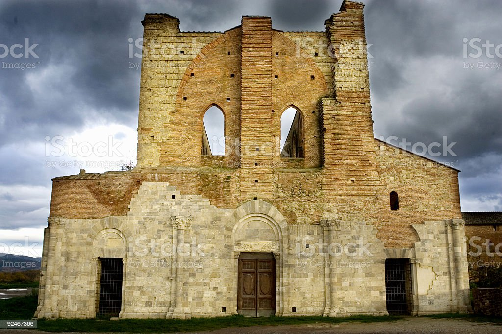 abandoned cathedral royalty-free stock photo