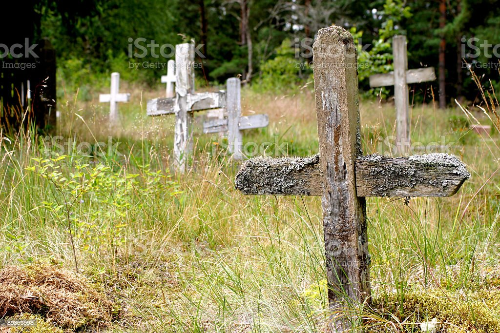Abandoned cemetery royalty-free stock photo