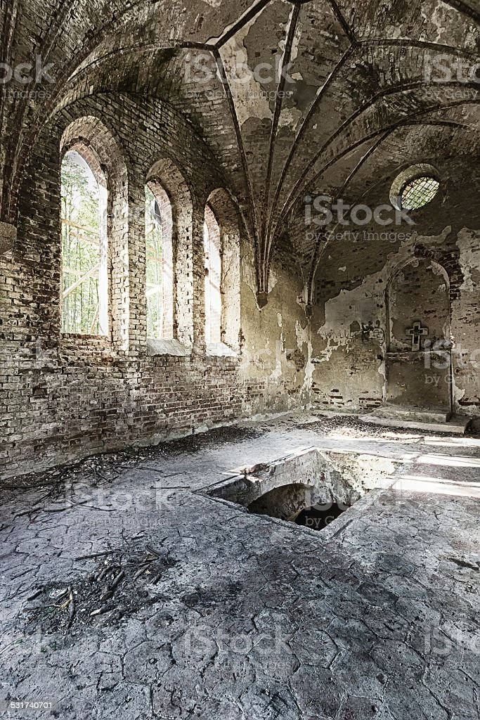 Abandoned chapel stock photo