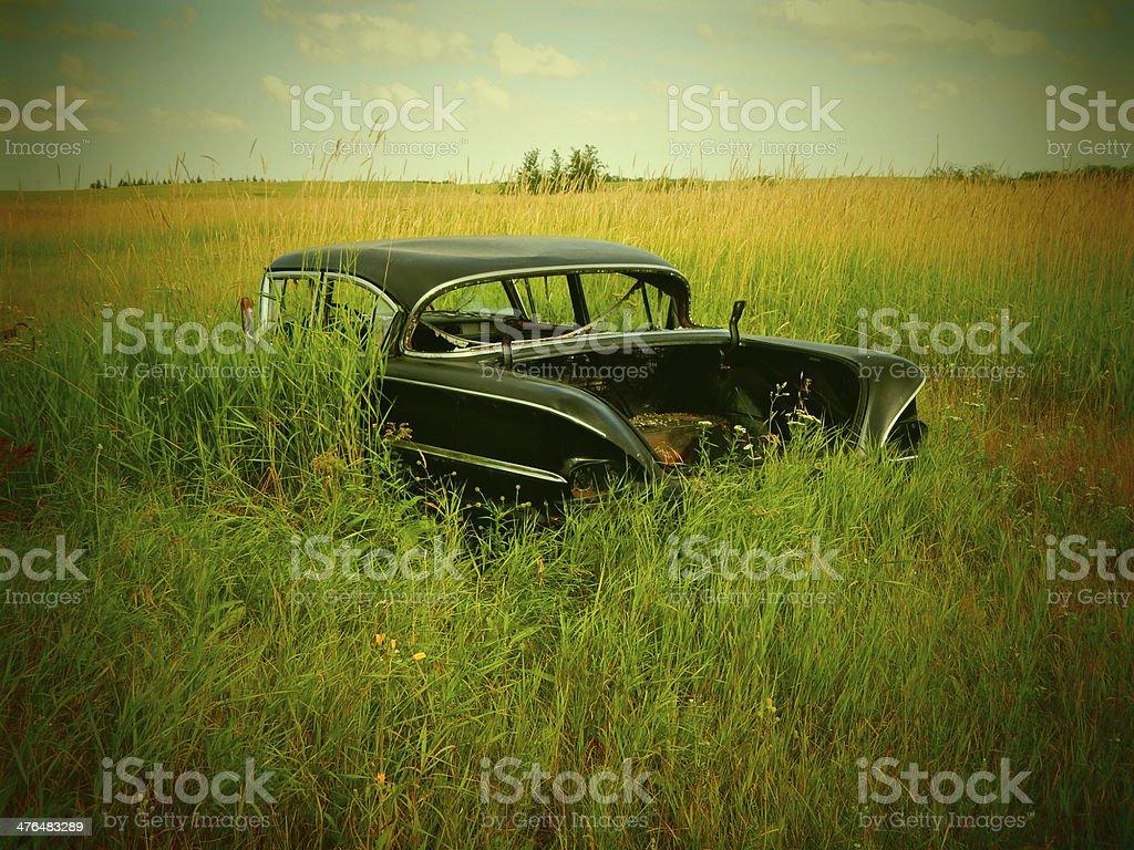 Abandoned Chevrolet Impala royalty-free stock photo