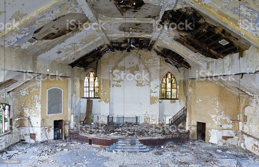 Abandoned Christian Church royalty-free stock photo