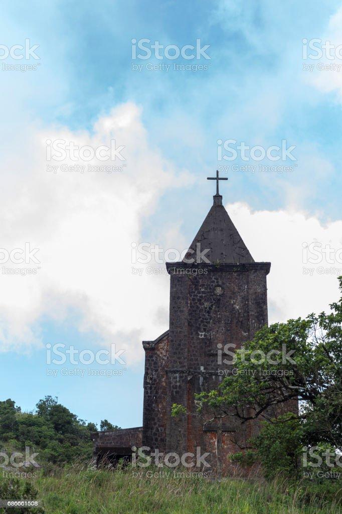 Abandoned christian church stock photo