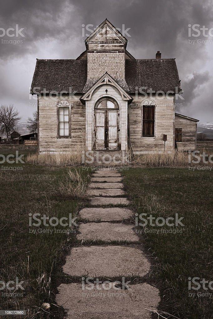Abandoned Church stock photo