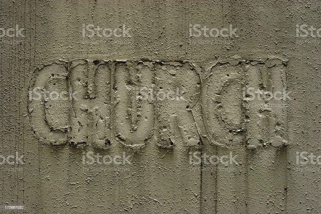Abandoned church: sign of religious decline? royalty-free stock photo