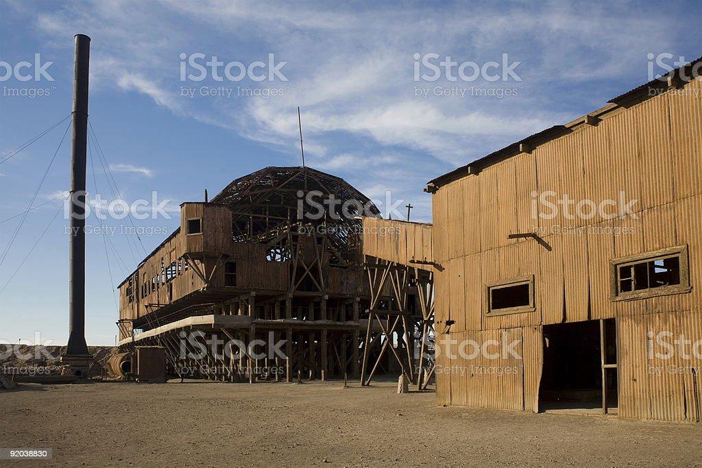 Abandoned City - Santa Laura and Humberstone royalty-free stock photo