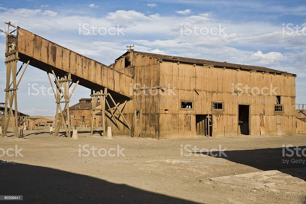 Abandoned City - Santa Laura and Humberstone royalty-free stock photo