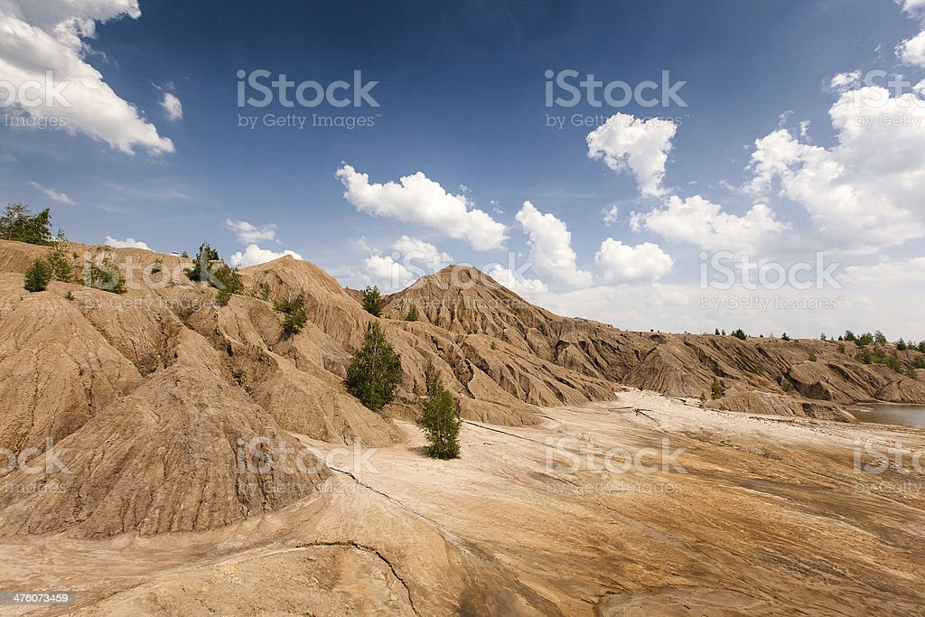 Abandoned coal mine in Tula region, Russia royalty-free stock photo