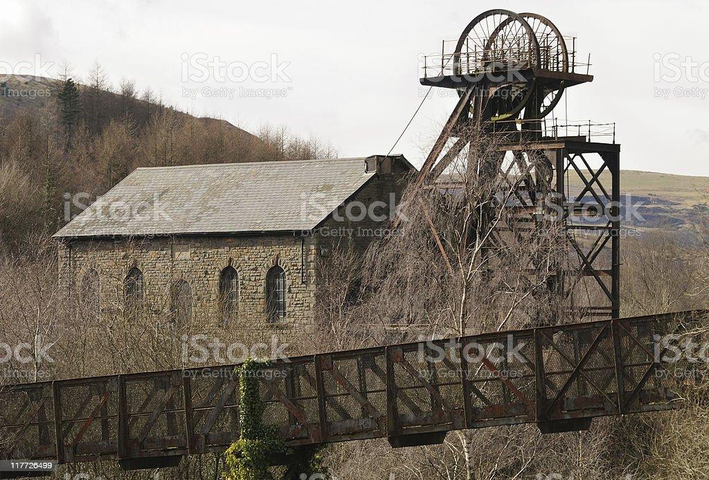 Abandoned Coal Mine, South Wales stock photo