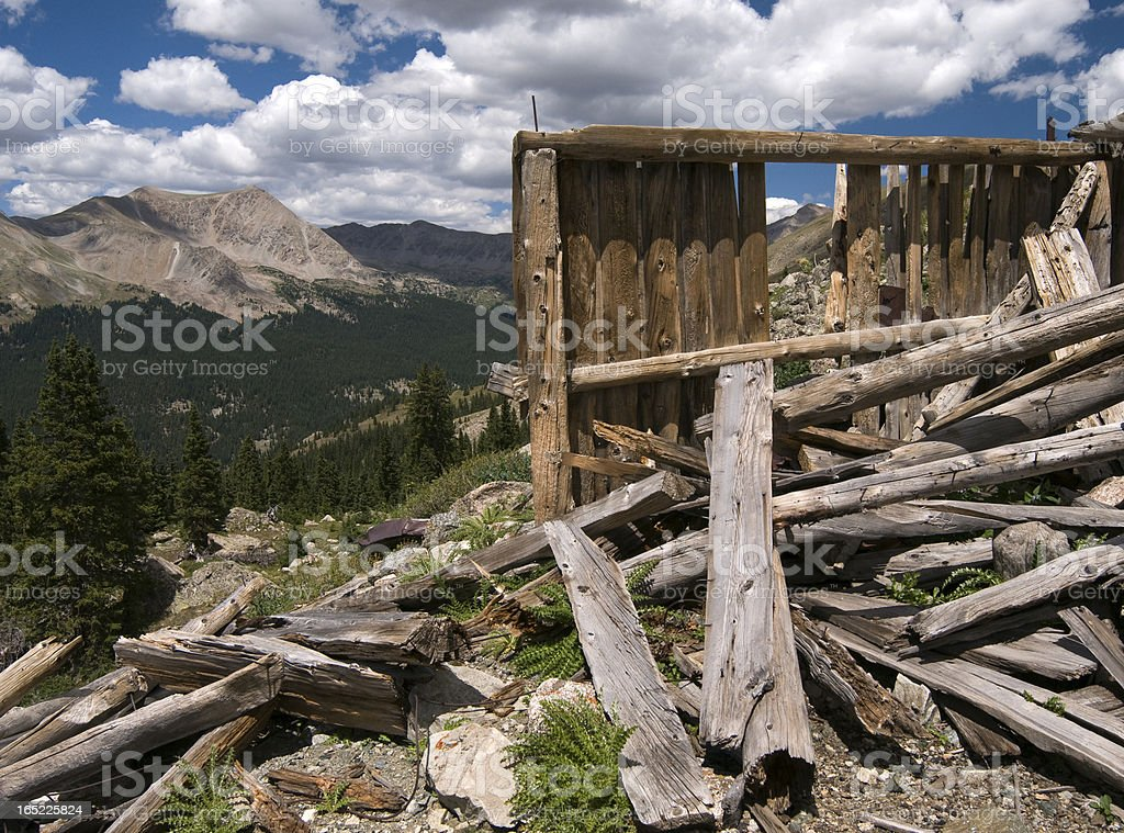 Abandoned Colorado Mine In Collegiate Peaks Wilderness royalty-free stock photo