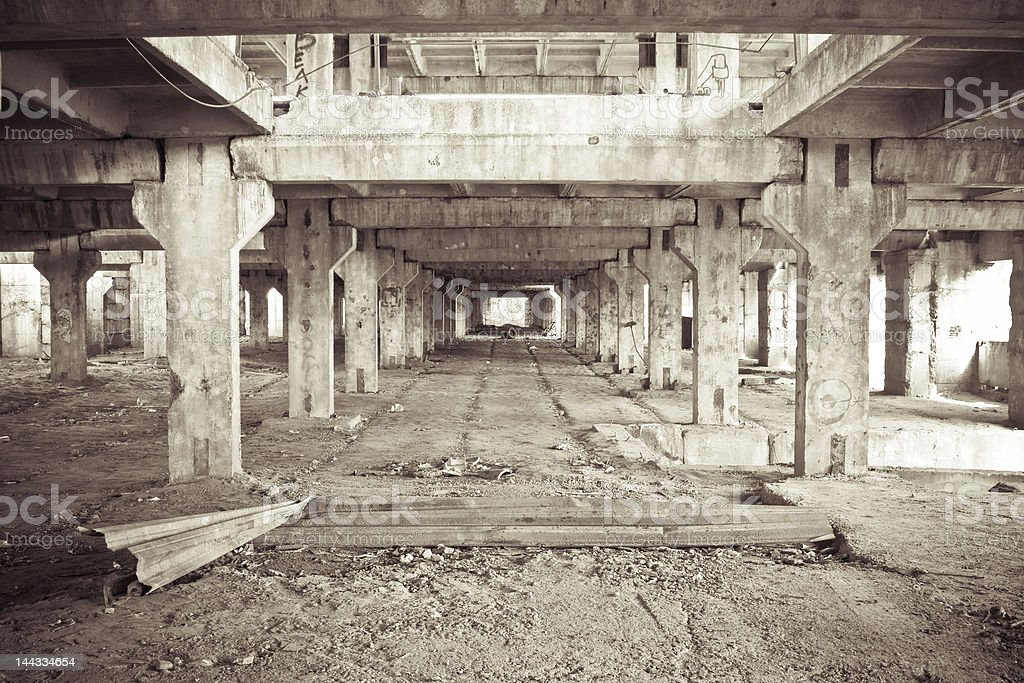 Abandoned construction site 2 royalty-free stock photo