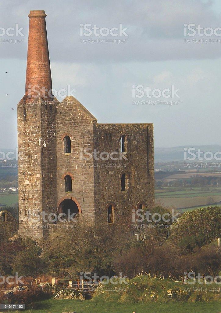 Abandoned Cornish Mine (Mill) stock photo