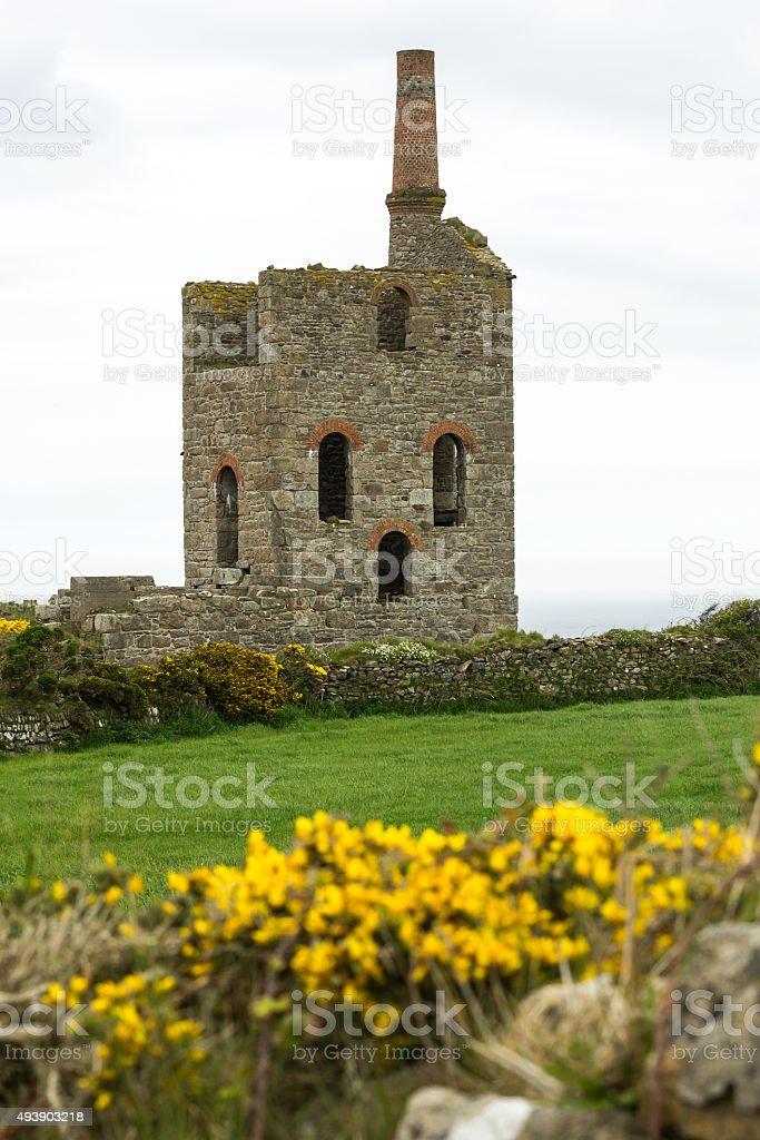 Abandoned  Cornish Tin Mine stock photo