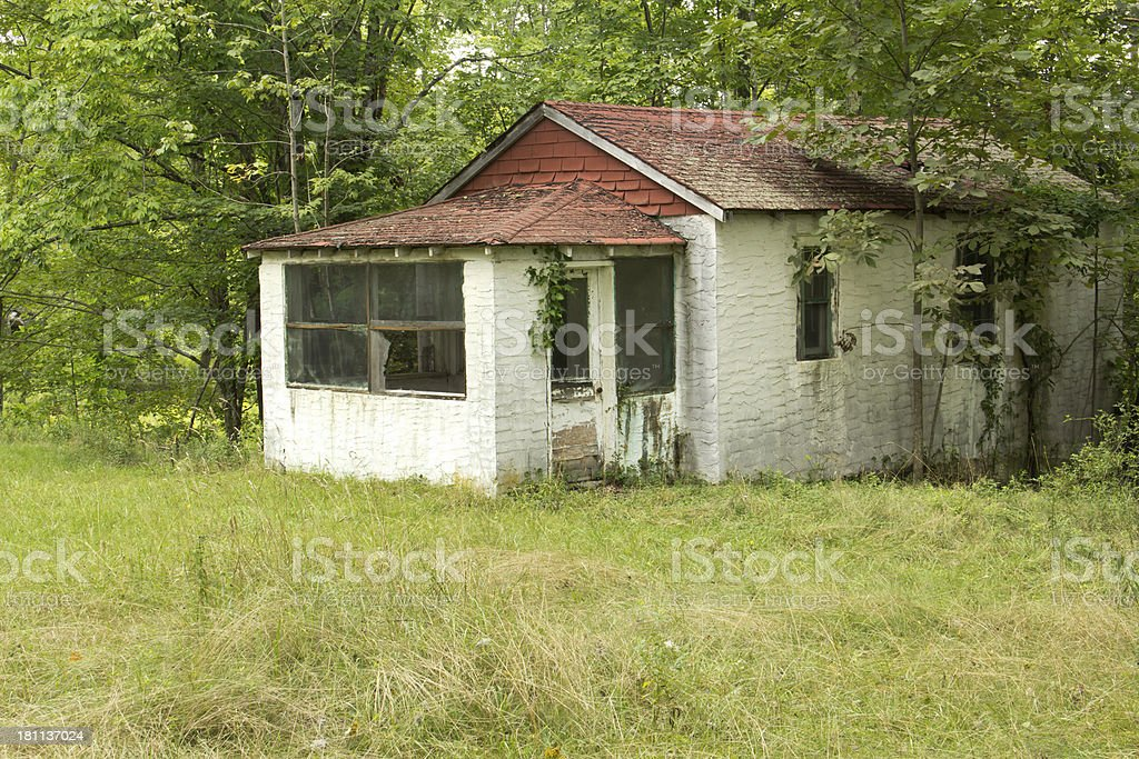 Abandoned Decaying Home stock photo