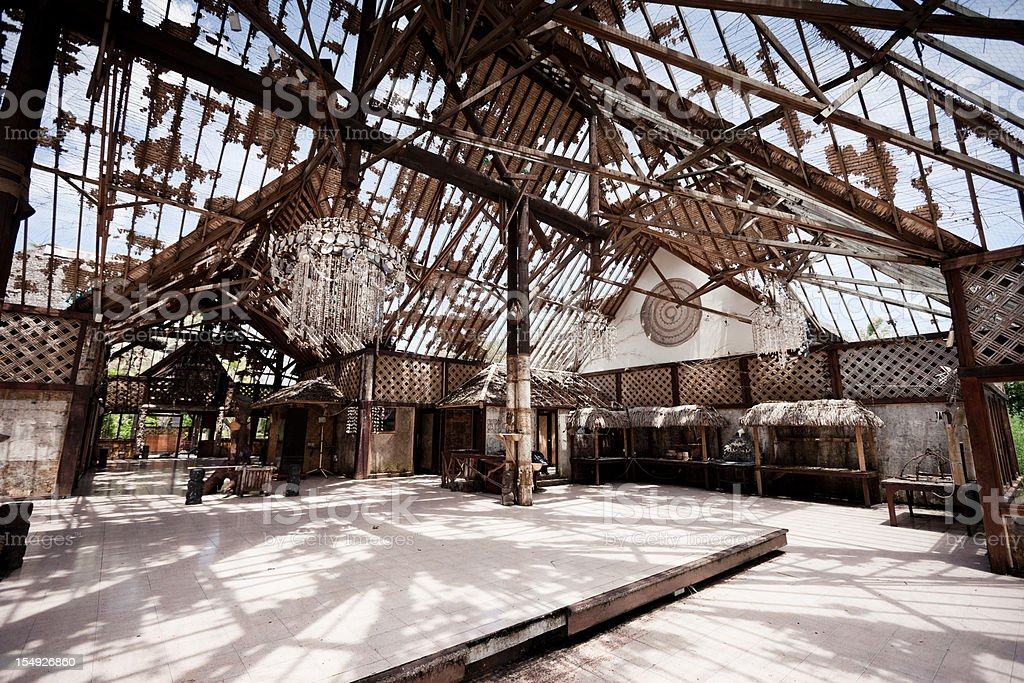 Abandoned Decaying Tourist Resort Series II stock photo