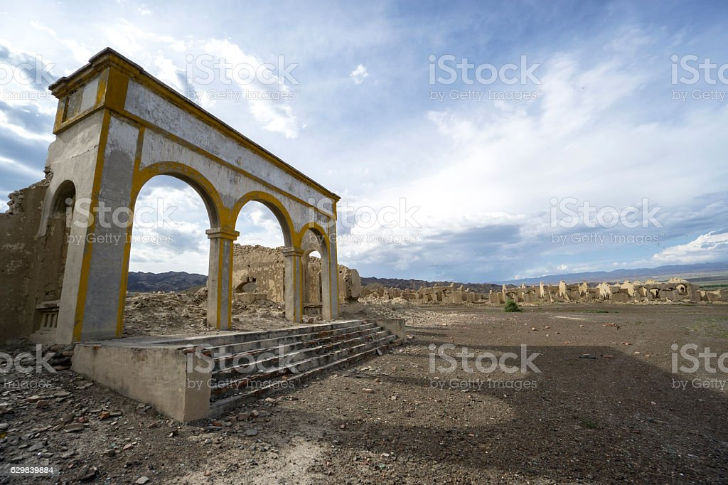abandoned demolished architectures stock photo