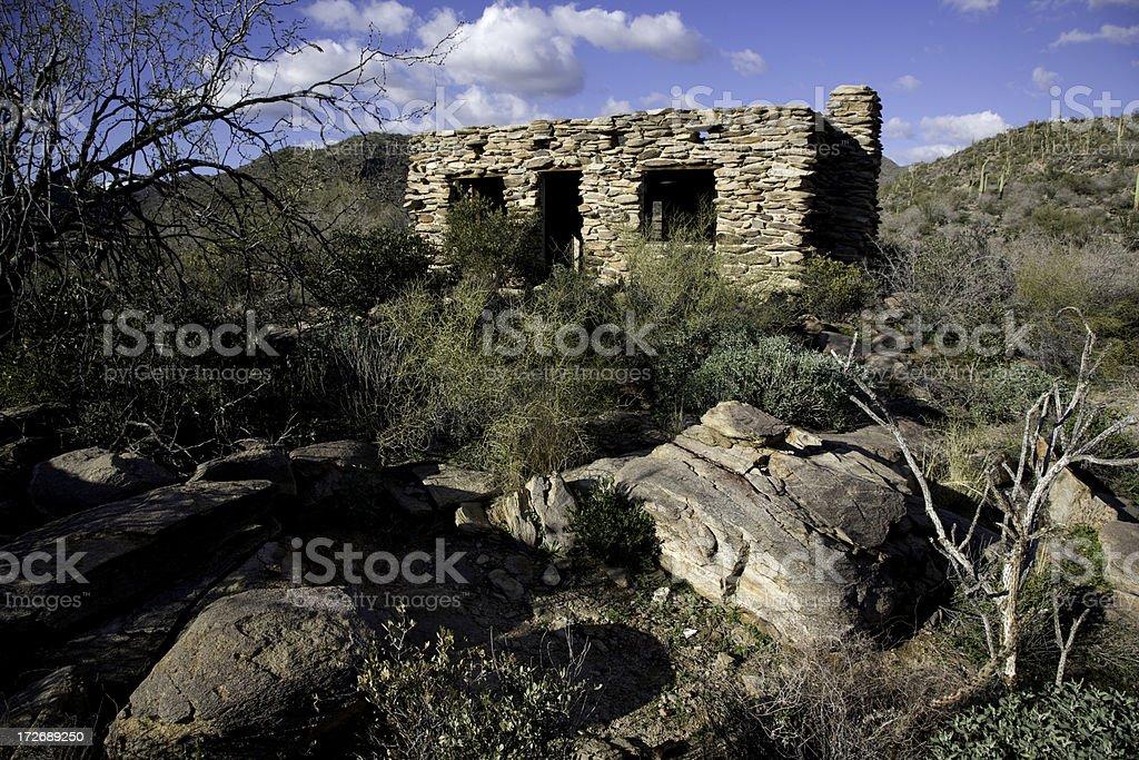 Abandoned Desert House royalty-free stock photo