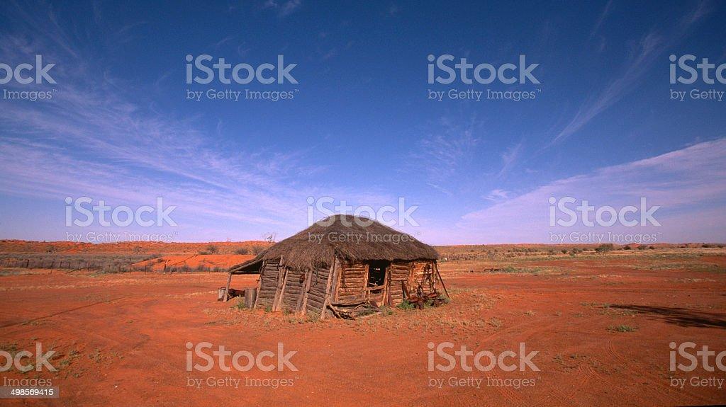 Abandoned Desert Hut, Simpson Desert, Northern Territory, Australia stock photo