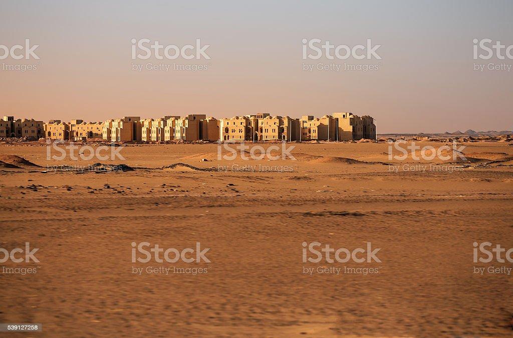Abandoned desert town stock photo