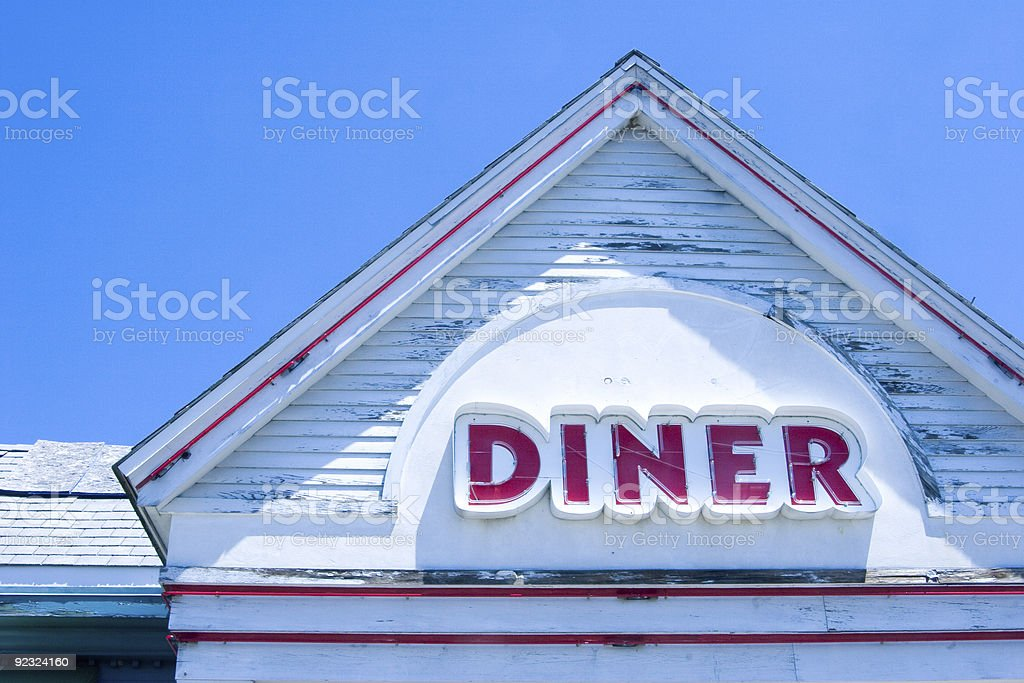 Abandoned Diner royalty-free stock photo