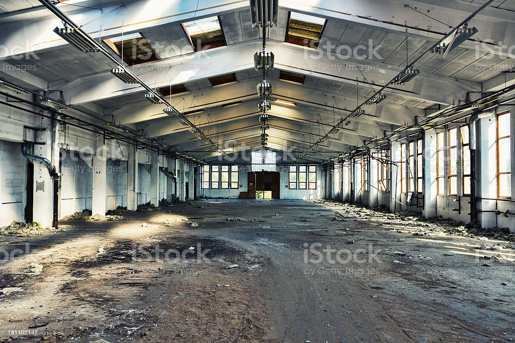 Abandoned dirty old factory royalty-free stock photo