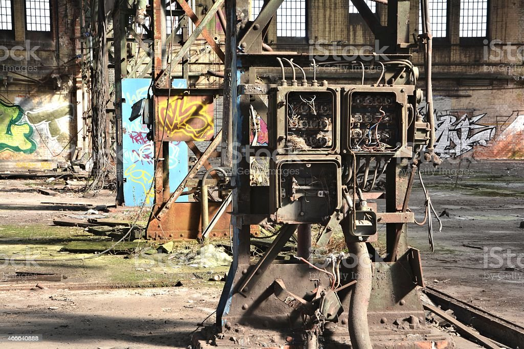 abandoned disused factory stock photo