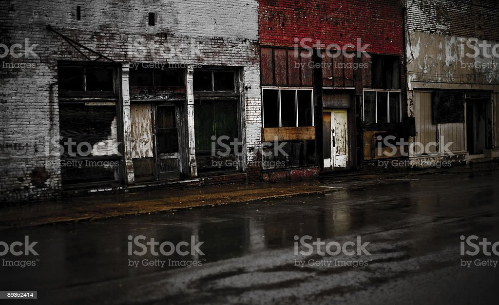 Abandoned Downtown royalty-free stock photo