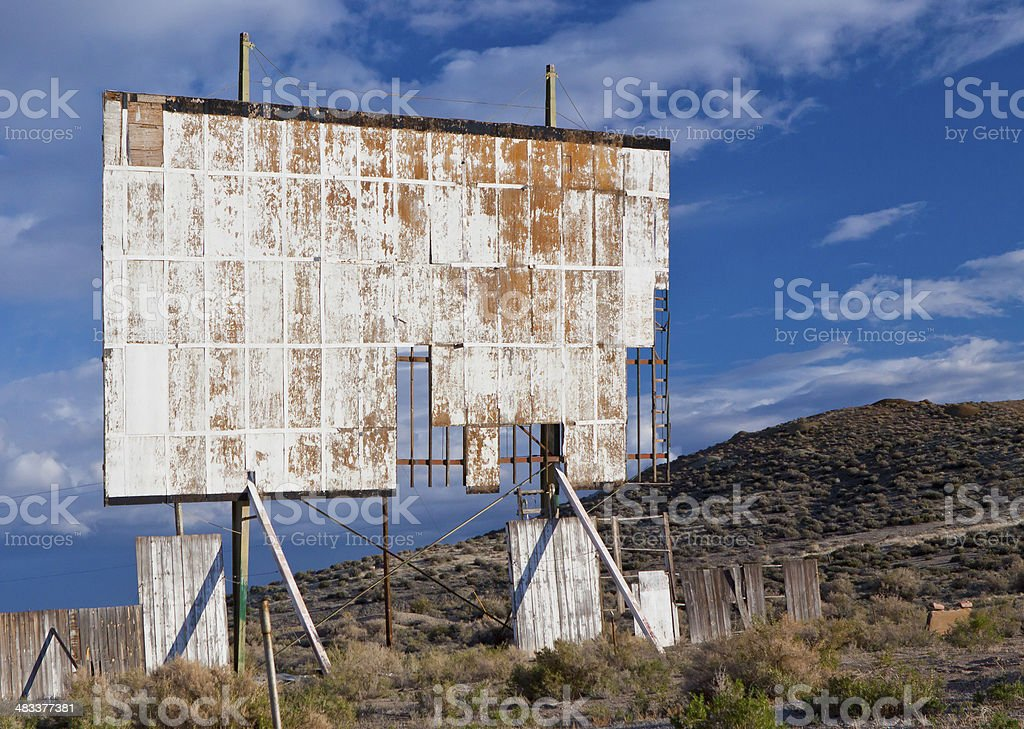Abandoned Drive in Theater stock photo