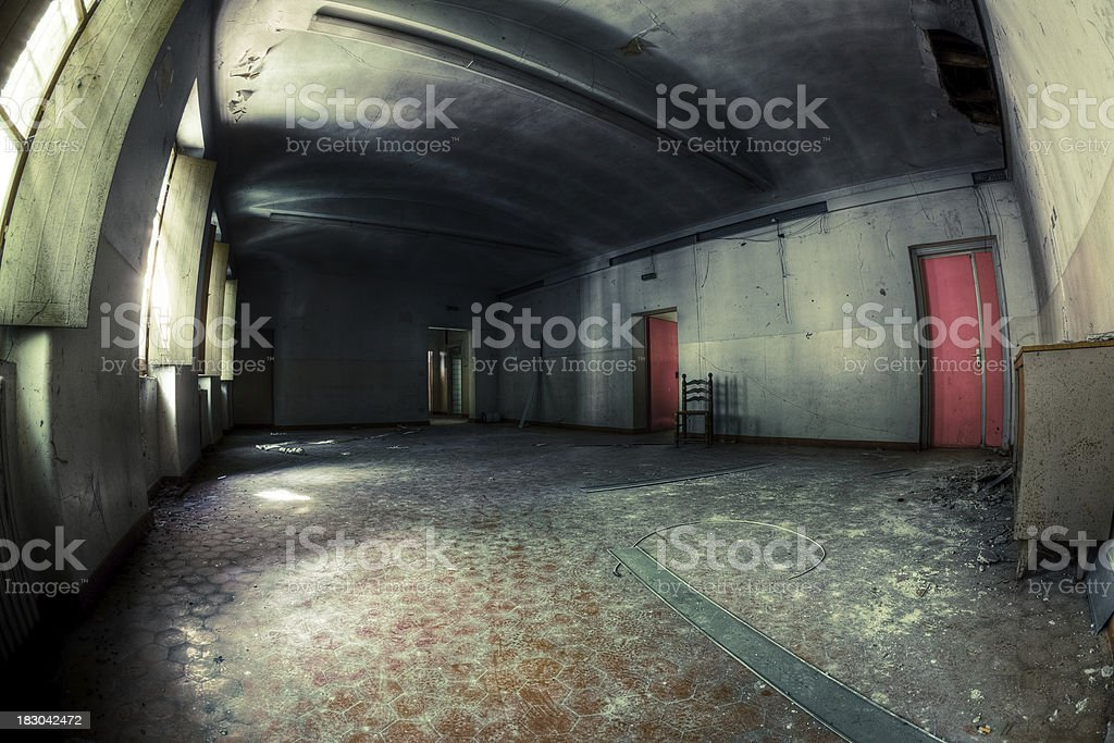 Abandoned Empty Room Architecture HDR Fisheye royalty-free stock photo
