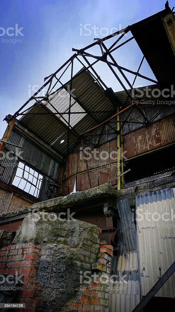 Abandoned Factory Buildings stock photo