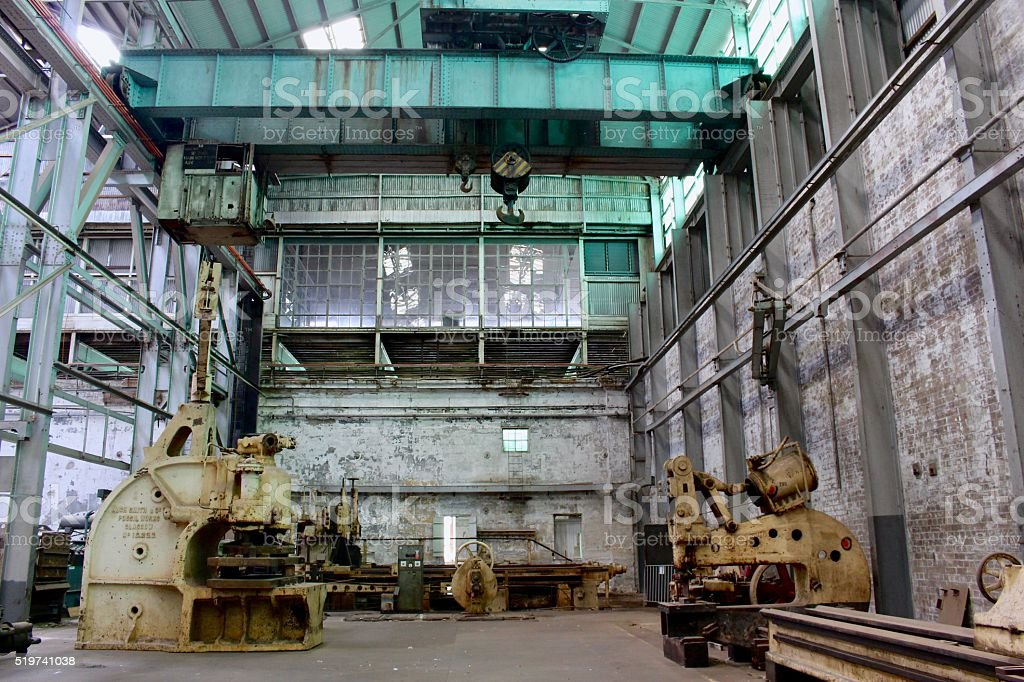 Abandoned factory in Sydney stock photo
