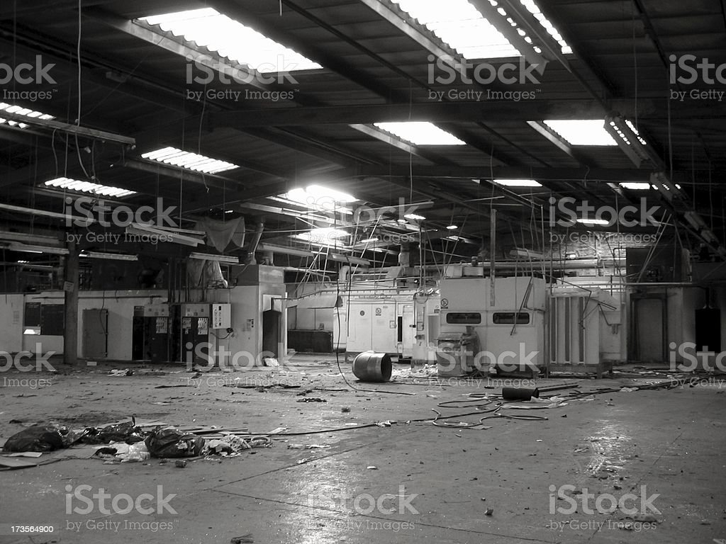 Abandoned factory interior royalty-free stock photo