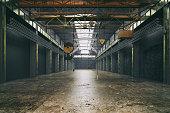 Abandoned factory interior - Retro styled